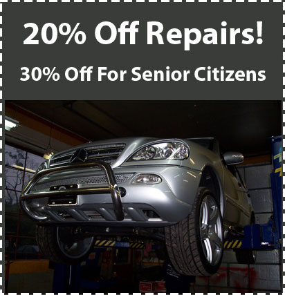 20 Percent Off All Repairs!