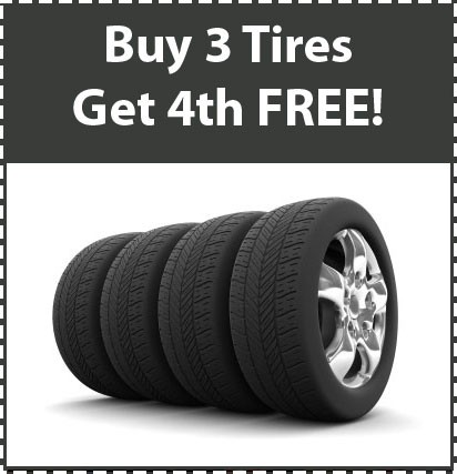 Buy 3 Tires Get 4th Free!